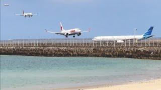 Landing Bali Lion Air dan Batik Air Boeing 737 Max 8 dan Boeing 737-800, Indonesia Plane Spotters