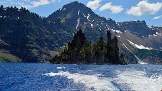 CRATER LAKE BOAT TOUR & WATERFALLS  JULY 2014