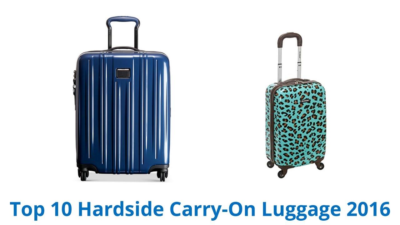 10 Best Hardside Carry-On Luggage 2016 - YouTube