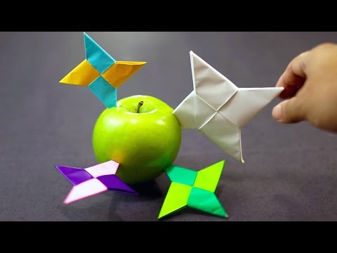 How to make a Paper Ninja Star / Shuriken Easy (Classic Origami)!