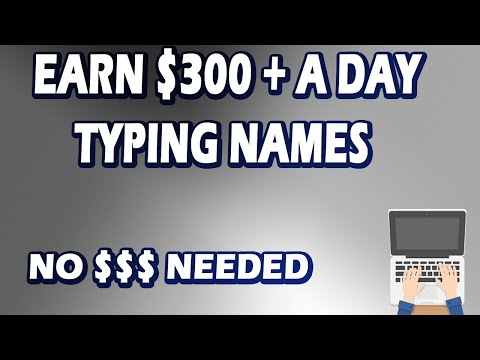 Earn $300 Easily By Typing Names Online! Available Worldwide | No Money Needed! (Make Money Online)