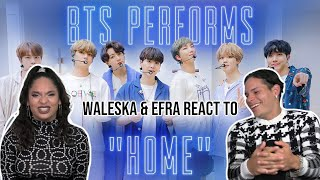 SLUMBER PARTY WITH BTS?  Waleska & Efra react to BTS: HOME on Jimmy Fallon  REACTION  💜✨