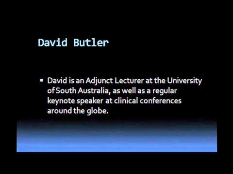 An interview with David Butler - Neurodynamics & Neuroscience