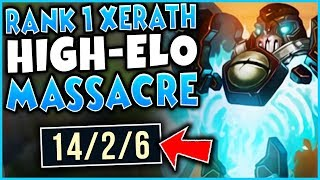 #1 XERATH WORLD DESTROYS HIGH-ELO PLAYERS (ZERO COUNTER PLAY) - League of Legends