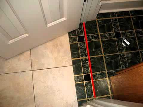 How To Position Door Threshold On Floor Youtube