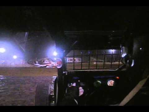 Creek county speedway sprint car crash, flip  Alex DeCamp.wmv