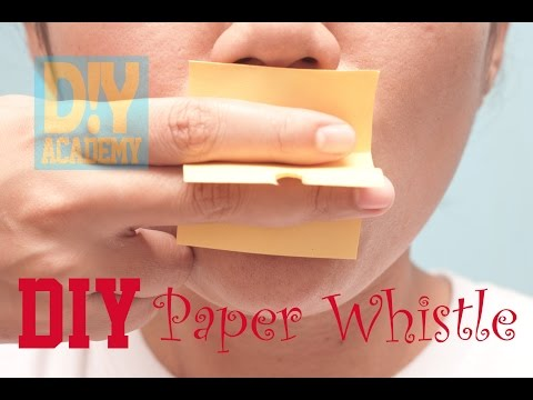 Create a Fast and Easy DIY Paper Whistle