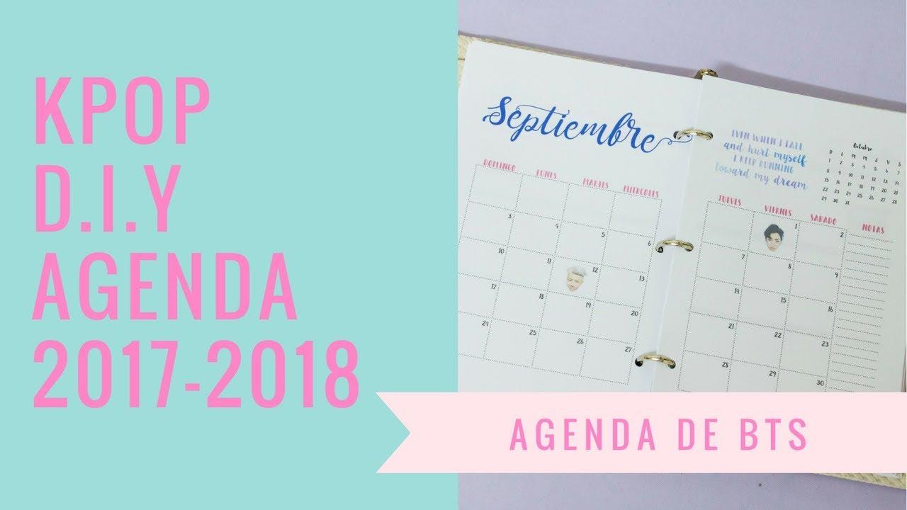 Kpop d i y agenda escolar 2017 2018 de bts imprimible - Agenda imprimible 2017 ...