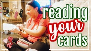 READING YOUR CHRISTMAS CARDS! | DAY 6 - 12 DAYS OF VLOGMAS 2018 | Page Danielle