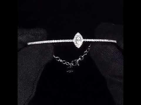 18K Diamond Bangle White Gold - BGXB5010L
