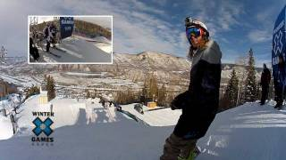 GoPro HD: Winter X Games – Eric Willett Snowboard Slopestyle Practice Run