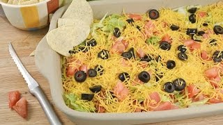 Skinny Taco Dip Recipe - Low Fat Tortilla Dip | Radacutlery.com