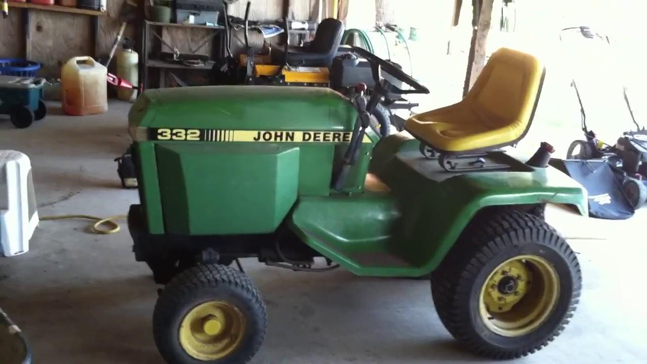 John Deere 332 >> John Deere 332 Diesel Garden Tractor Youtube