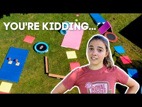 ULTIMATE At Home Gymnastics Obstacle Course!