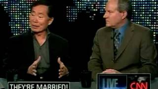 George Takei and his husband Brad Altman on Larry King Live 20090527