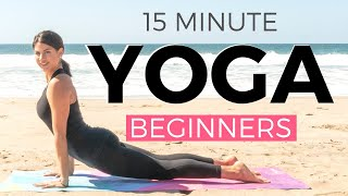 15 minute Yoga Workout for Beginners | Yoga for Beginners WEIGHT LOSS & Strength