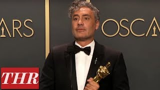 Oscar Winner Taika Waititi Full Press Room Speech | THR