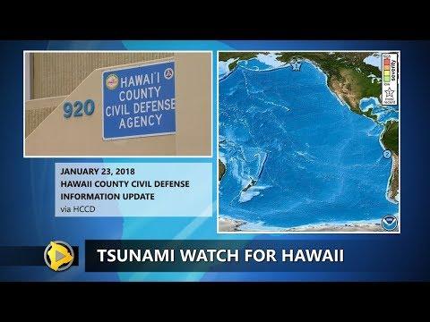 Tsunami Watch For Hawaii After Alaska Quake (12 a.m. - Jan. 23, 2018)