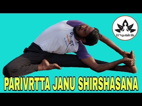 Parivrtta Janu Shirshasana/The Revolved Head to Knee Pose