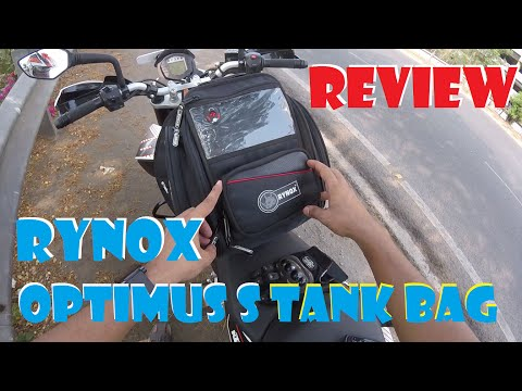Rynox Optimus S Tank/Tail Bag REVIEW (non-magnetic) | Honest