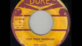 MISS LAVELL - Stop these teardrops - DUKE