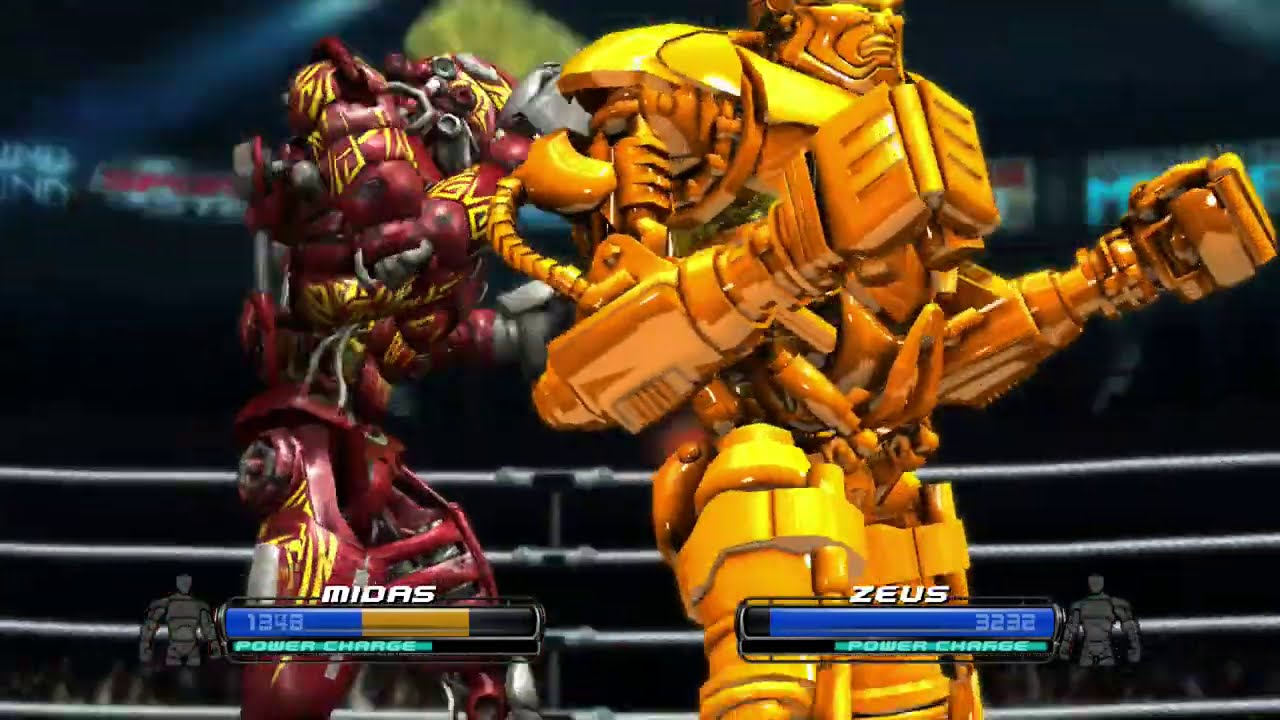 REAL STEEL THE VIDEO GAME - KING OF THE RING ZEUS VS BLOODY MIDAS