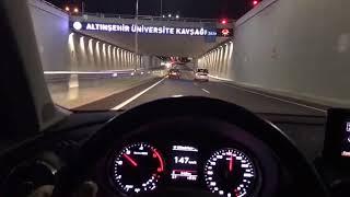 Audi Gece Araba Snapleri makas hız