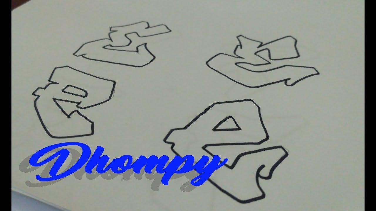 Graffiti Abjad Letter E Dhompy Graffiti Youtube