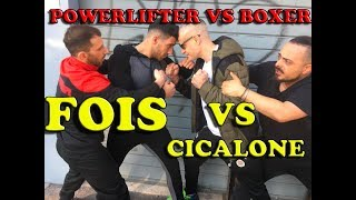 Pugile VS Powerlifter - Cicalone VS Giovanni Fois sul Ring