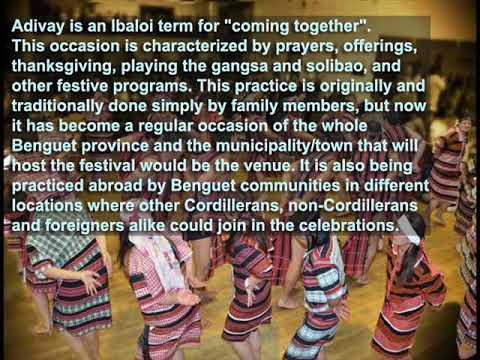 Adivay Festival (Gangsa Musical Application - Cordillera Music Instrument)