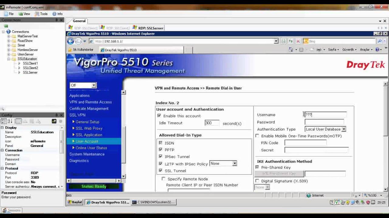 DrayTek Router SSL VPN Aplication Proxy,SSL Tunnel,SSL Gateway