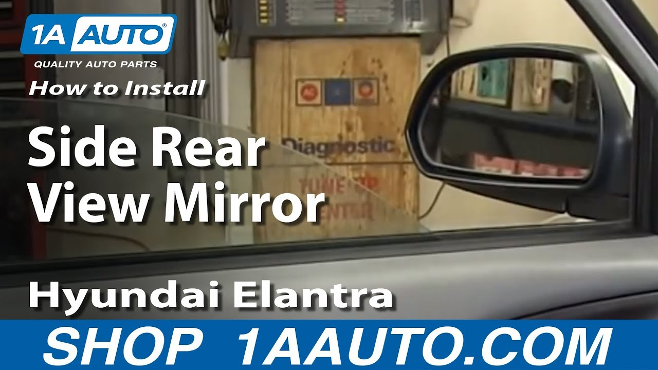 hight resolution of how to install replace side rear view mirror 2001 06 hyundai elantra