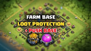 Best TH12 Farming Base / Push Base / Trophy Base 2018 :: Clash Of Clans Loot protection base