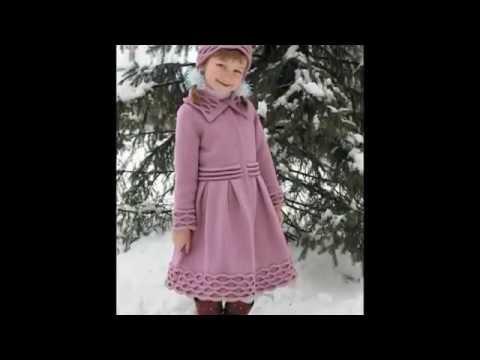 Детская вязаная одежда  Вязаные пальто Фото