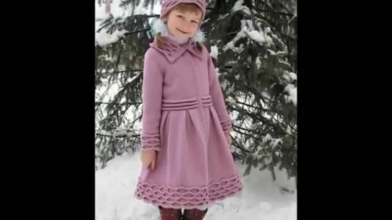 детская вязаная одежда вязаные пальто фото Youtube