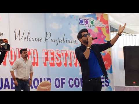 Bilal Saeed live concert in pgc faislabad 2017