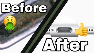 How to clean iPhone charging port. Fix iPhone charging problem