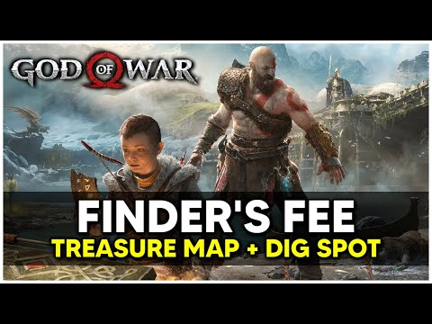 God Of War - Finder's Fee Treasure Map + Dig Spot Locations