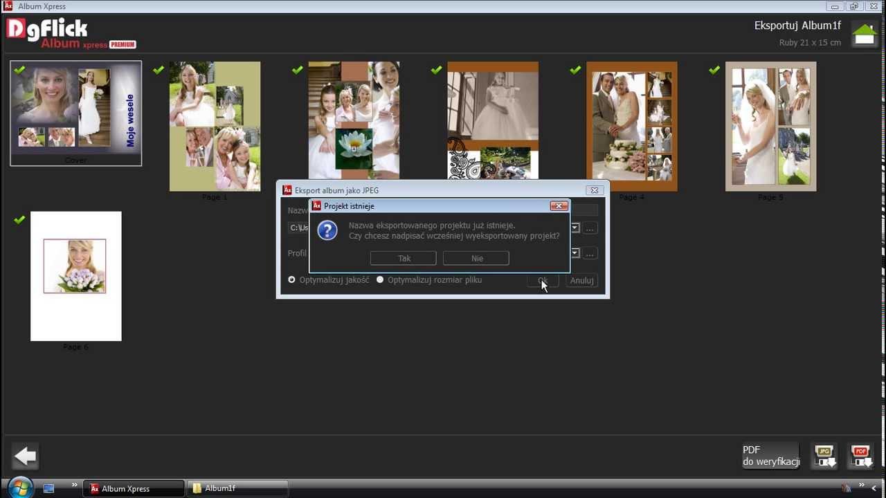 14 - Order Xpress - Eksport projektów do plików JPEG i PDF