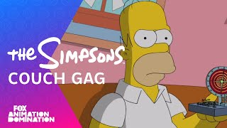 The Simpsons Travel Into The Future Couch Gag | Season 26 Ep. 1 | THE SIMPSONS