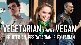 What's the difference? Vegetarian, vegan, raw vegan, fruitarian, flexitarian, pescetarian