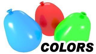 Balony dla dzieci z wodą - Nauka kolorów dla dzieci   CzyWieszJak