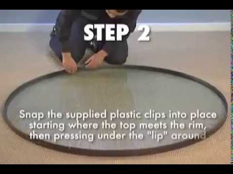 Tropitone how to replace a table top youtube for Plexiglass table top replacement