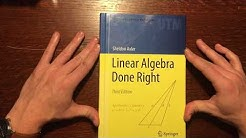 Linear Algebra Done Right Book Review