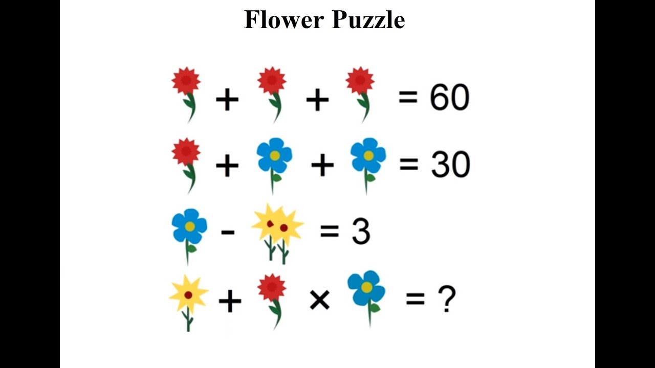 math worksheet : flower maths puzzle leaves inter users baffled  can you solve  : Algebra Puzzles