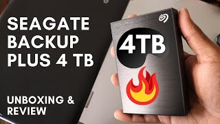 Seagate Backup Plus 4 TB Best Hard Drive Under 8000 Best 4TB Hard Drive Unboxing and Review