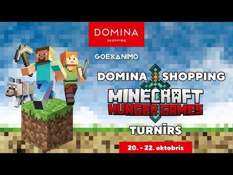 Domina Shopping Minecraft Hunger Games turnīrs!   Balvu fonds 1500 Eur!   1. diena