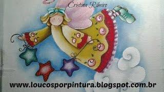 Como pintar ANJO DE NATAL COUNTRY – Cristina Ribeiro