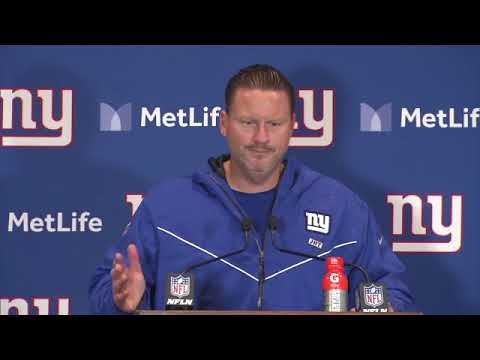 "New York Giants head coach Ben McAdoo on halftime speech: ""Um..."""