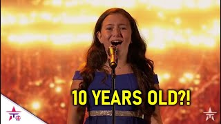She Is ONLY 10 Years Old..And SHOCKS The World With Her Voice!| America's Got Talent 2020